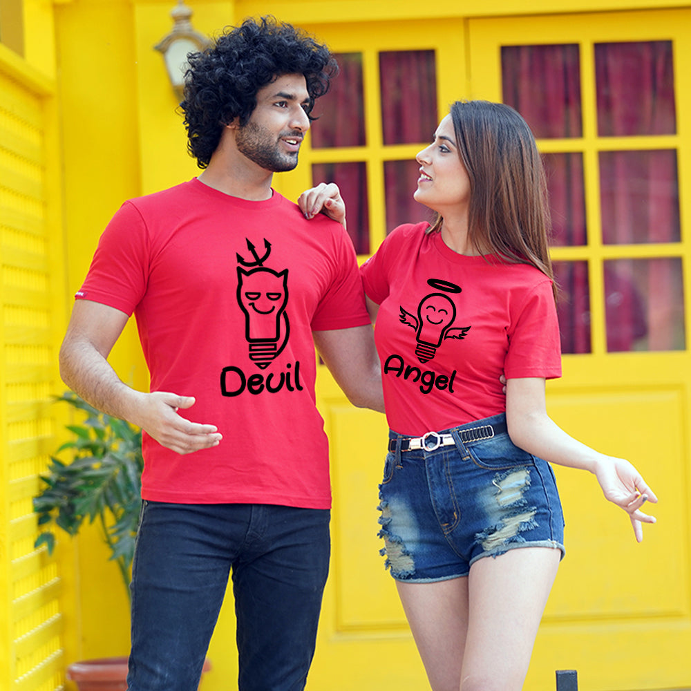 Devil Angel Couple T-Shirts