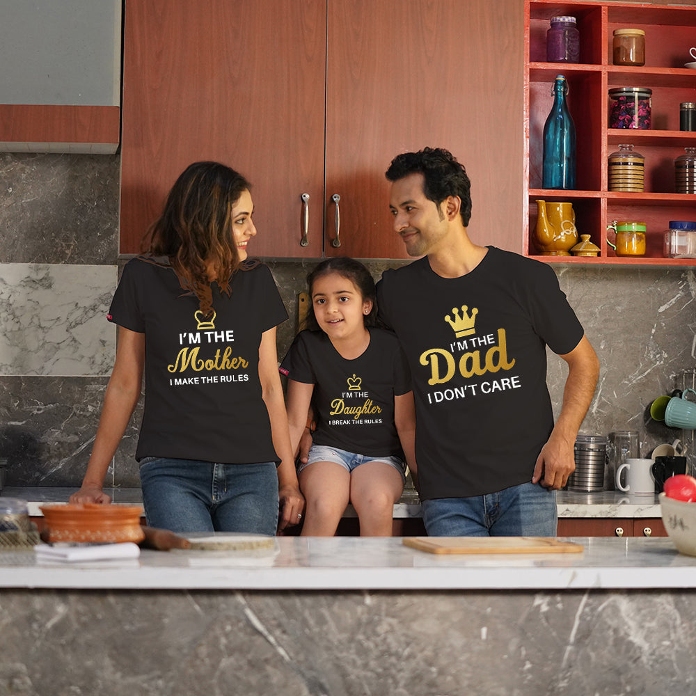 I Am Dad Mom Daughter Family TShirts Combo