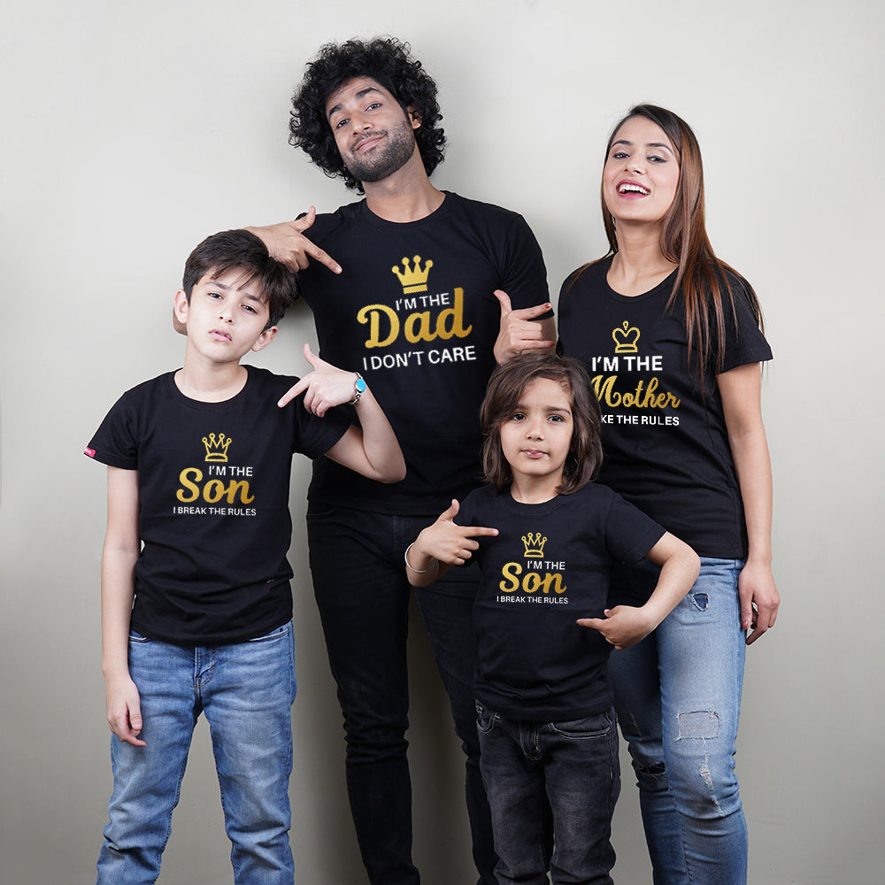 I AM Dad Mom Son Son Family TShirts Combo