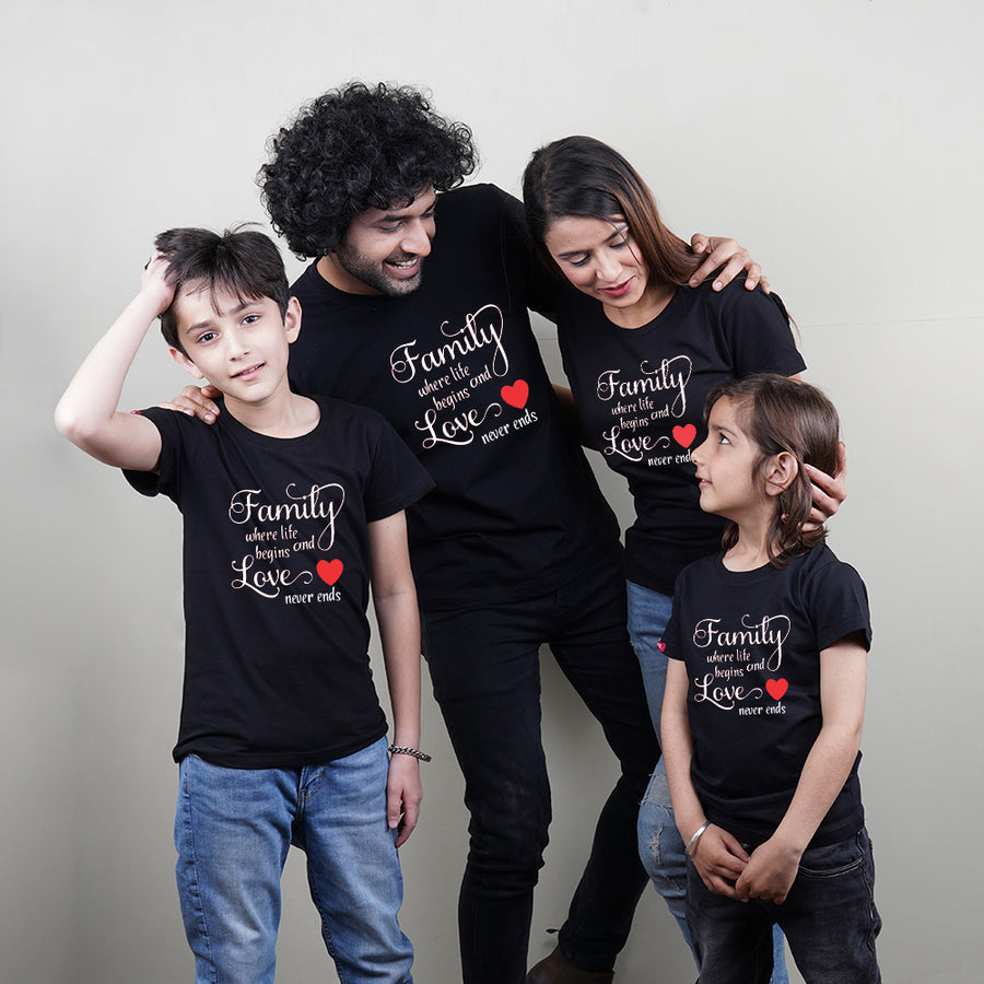Family Life And Love Mom Dad Kids TShirt Combo
