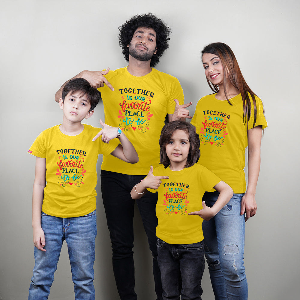 Together Is Favorite Place Mom Dad Kids Family TShirt Combo
