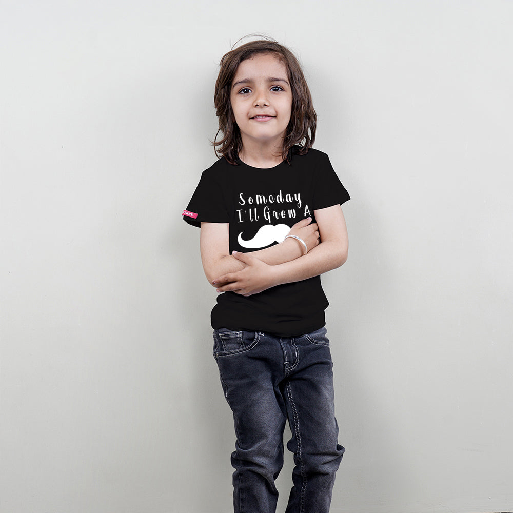 Black T-shirt for Kids (Boys) Stubborne