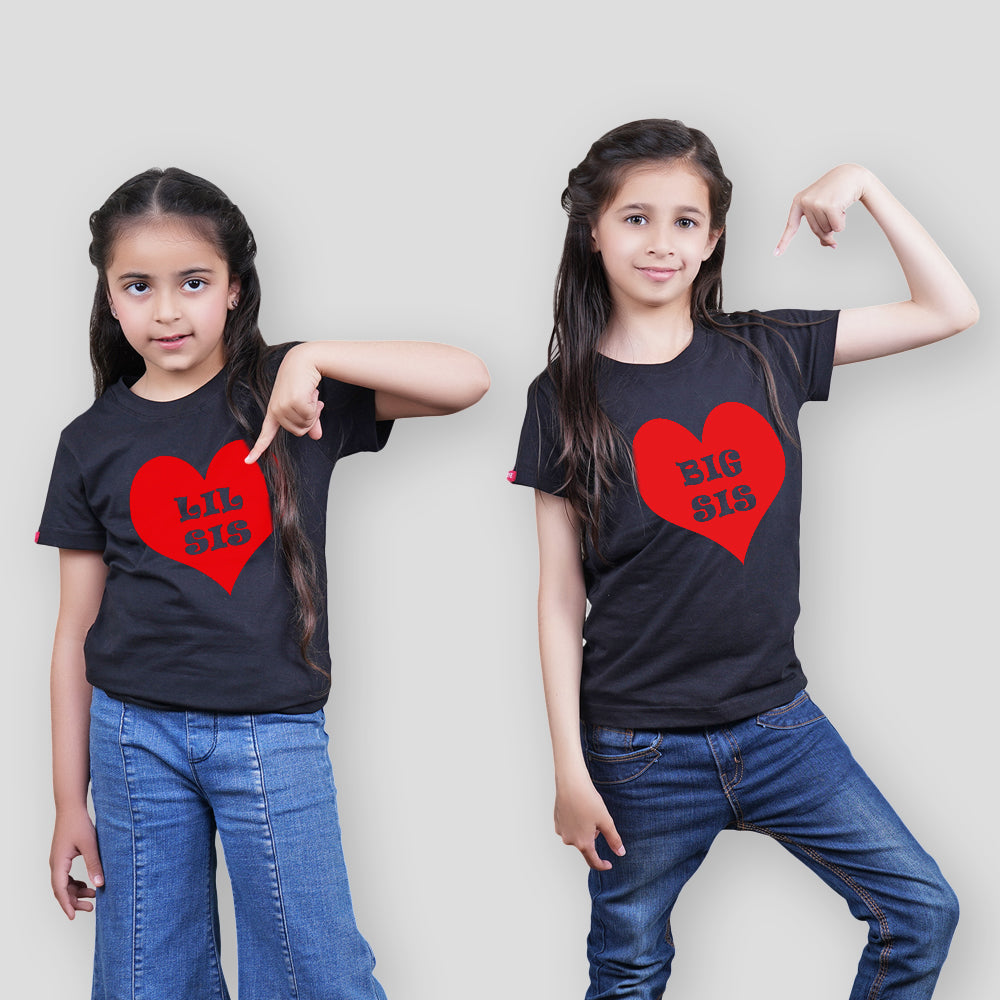 Stubborne Big Sister Little Sister Matching Sibling T-Shirt Combo