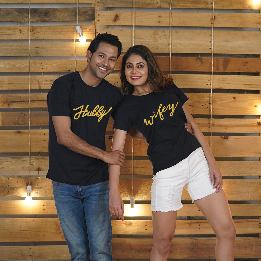 Hubby Wifey Couple T-Shirt