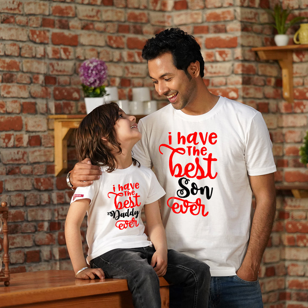 Best Daddy Son Ever Son Dad TShirt Combo