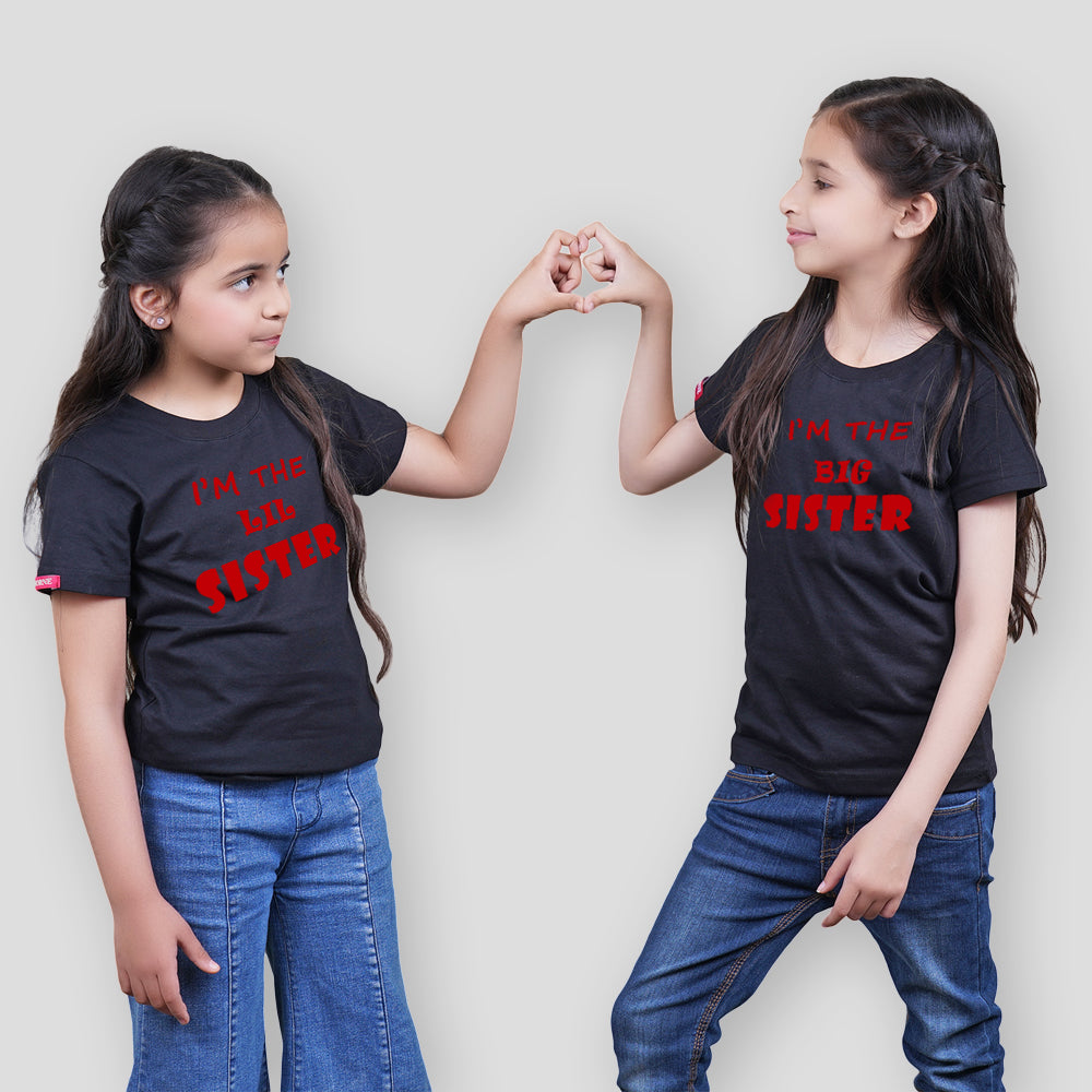 Stubborne I Am Sister Sister Matching Siblings T-Shirt Combo