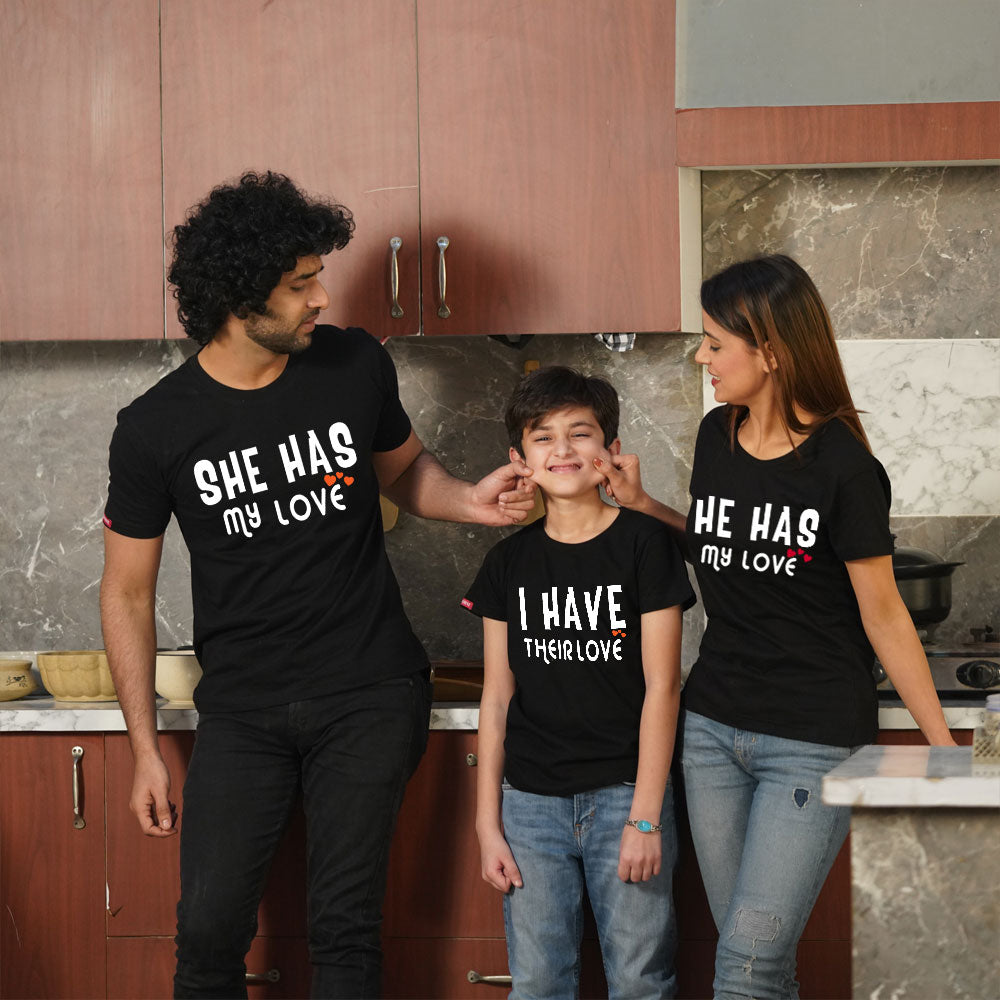 Stubborne I Have Their Love Family of 3 Combo T-Shirt