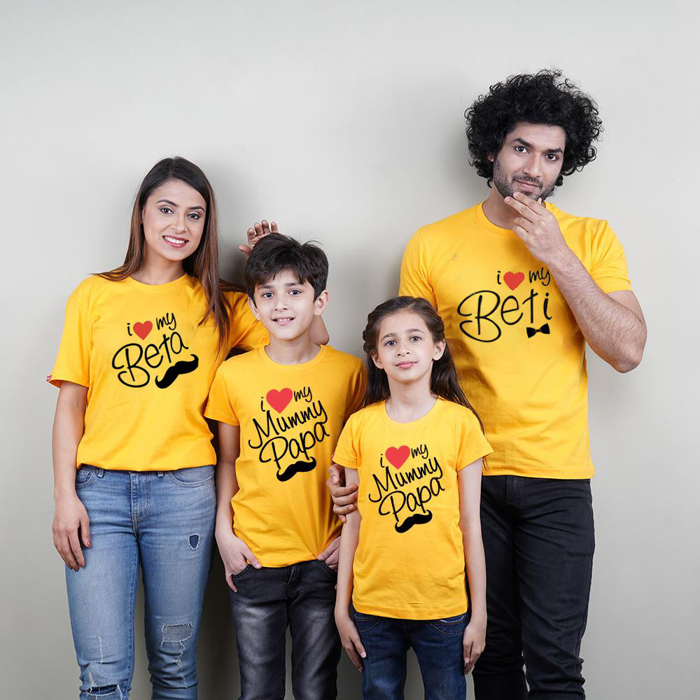 I Love My Mom Dad Son Daughter Family T-Shirts