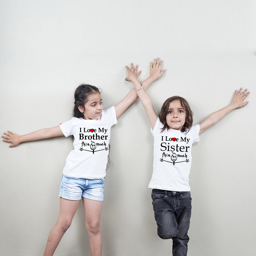 I Love You This Much Brother Sister Siblings T-Shirt