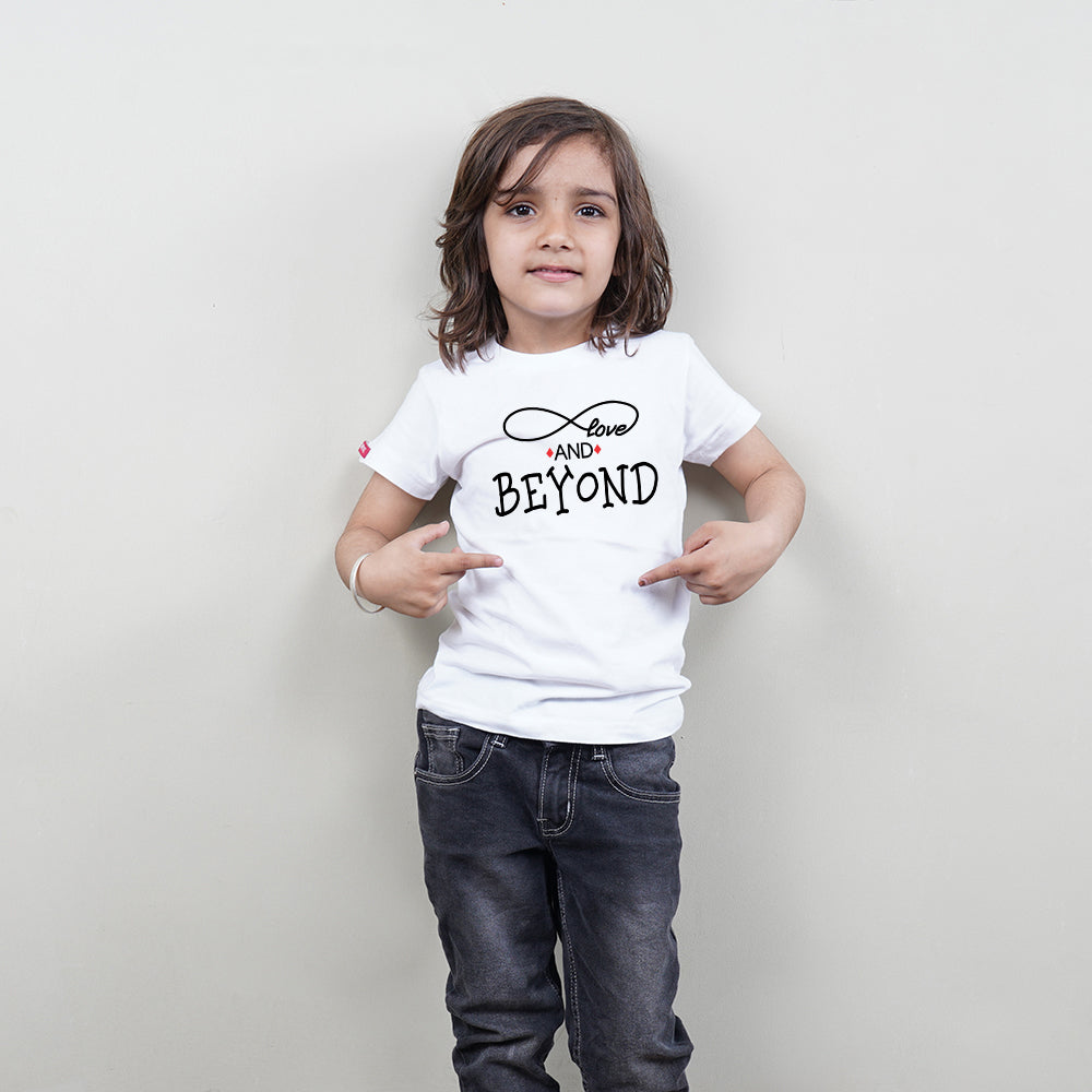 Love To Infinity and Beyond Mom Son TShirts Combo
