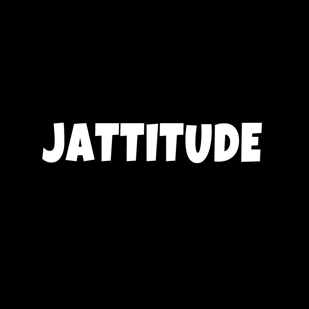 Stubborne Jattitude Black Men's T-Shirt