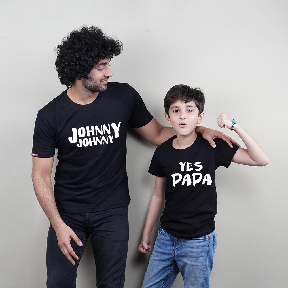 Johny Johny Dad Son Custom T-Shirt