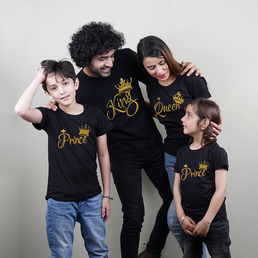 King Queen Prince Prince T-Shirt Family of 4