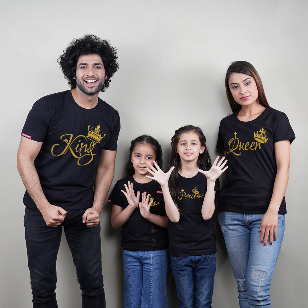King Queen Princess Princess T-Shirt Family of 4