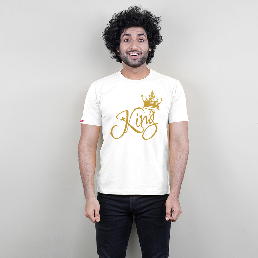 King Queen Princess Princess T-Shirt in White