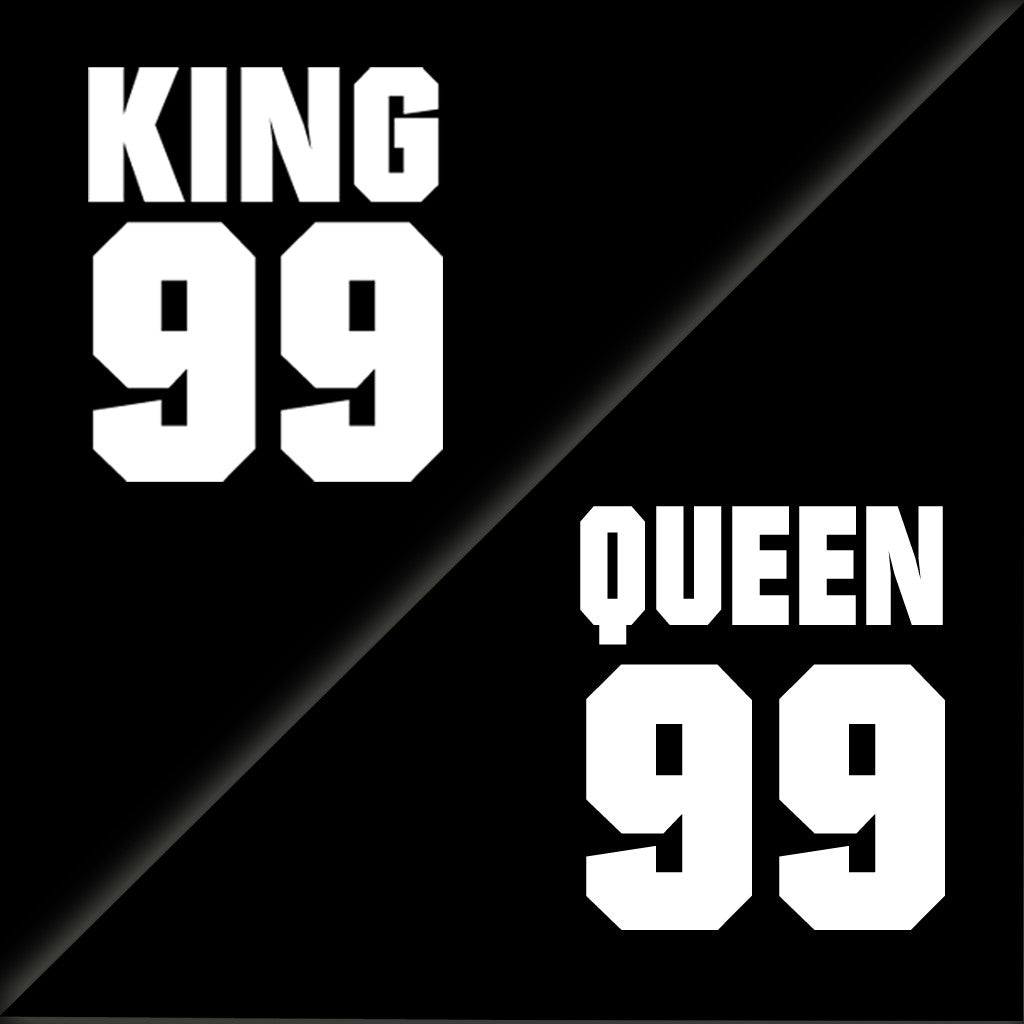 Stubborne King Queen 99 Couple T-Shirt Combo