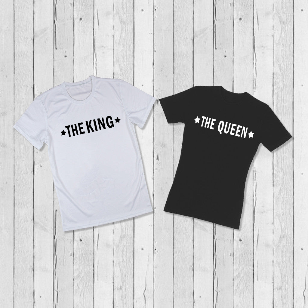 Stubborne The King The Queen Couple T-Shirt Combo