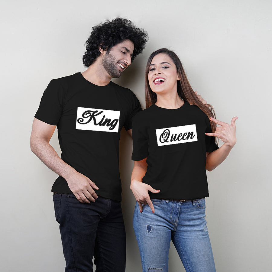 Stubborne King and Queen Couple T-Shirt Combo