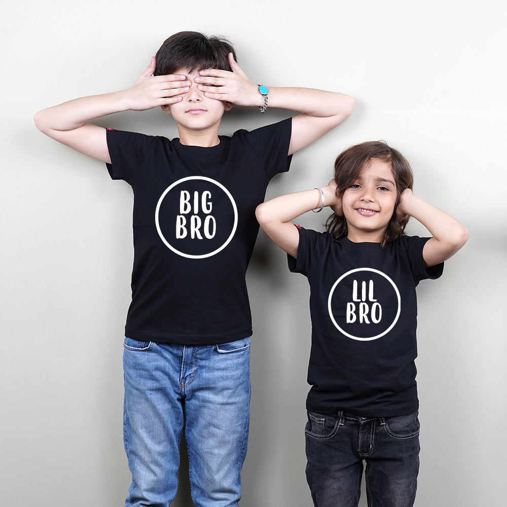 Stubborne Big Brother-Lil Brother Sibling Matching T-Shirt Combo