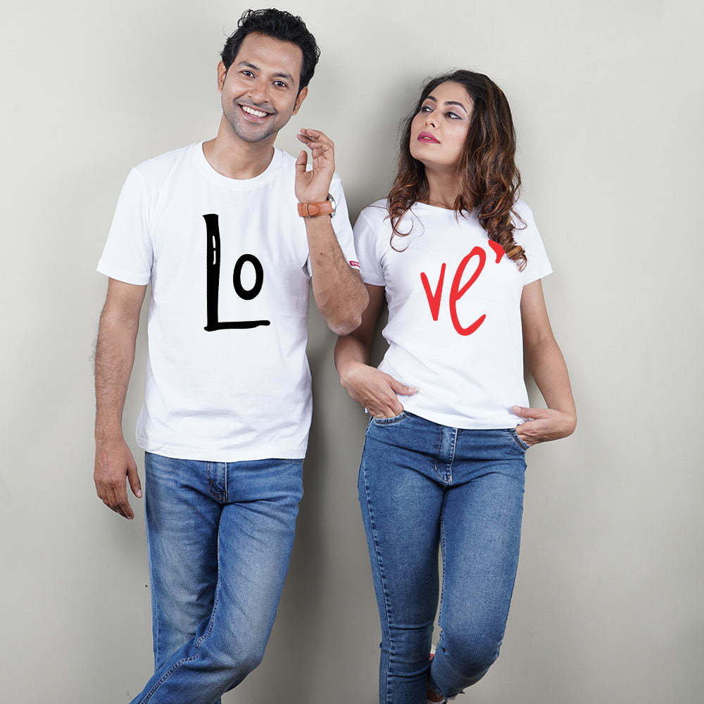 Stubborne Love Couple T-Shirt Combo