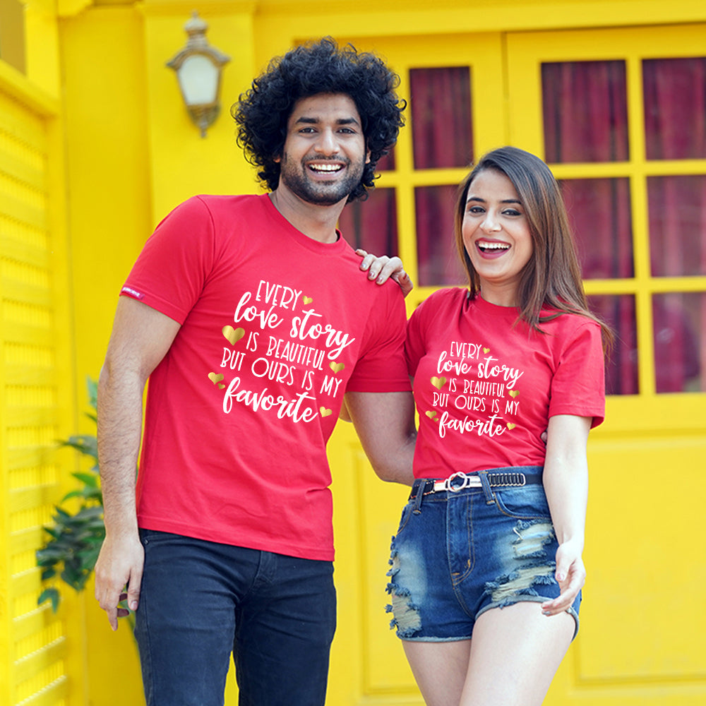 Love Story Couple T-Shirt