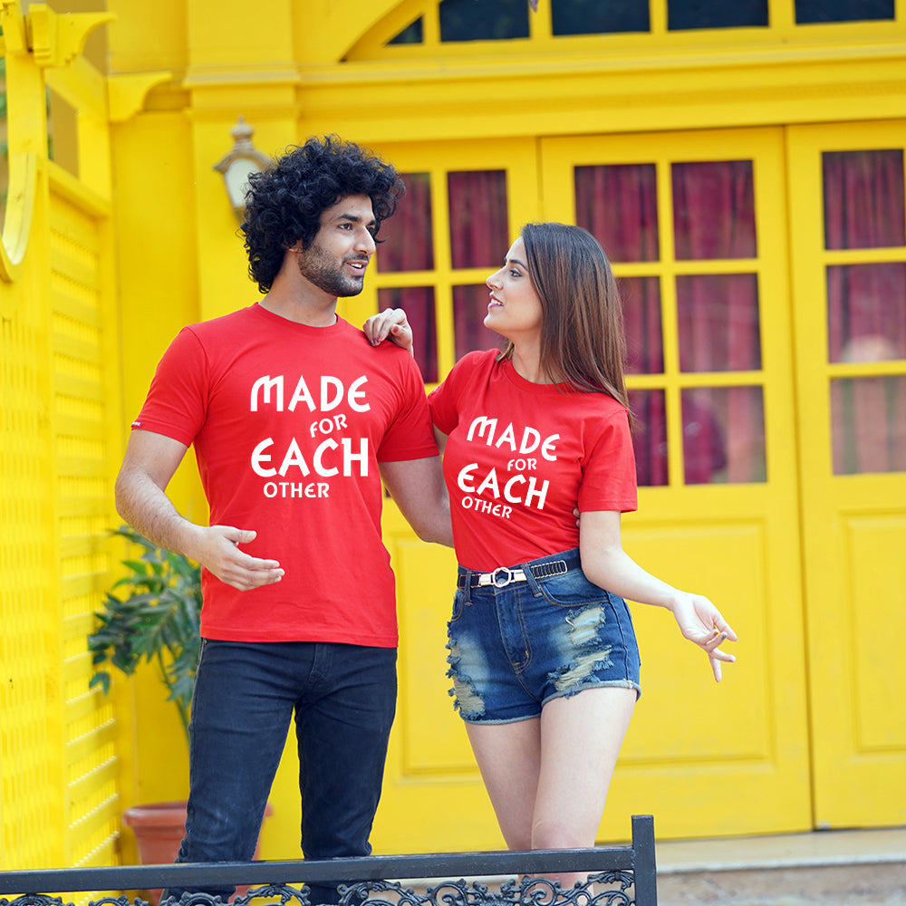 Stubborne Made For Each Other Couple T-Shirt Combo
