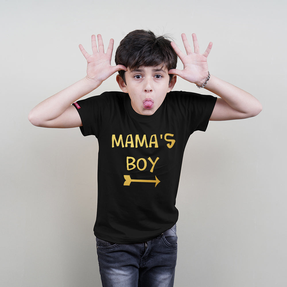 Stubborne Mama's Boy Mom Son Matching T-Shirt