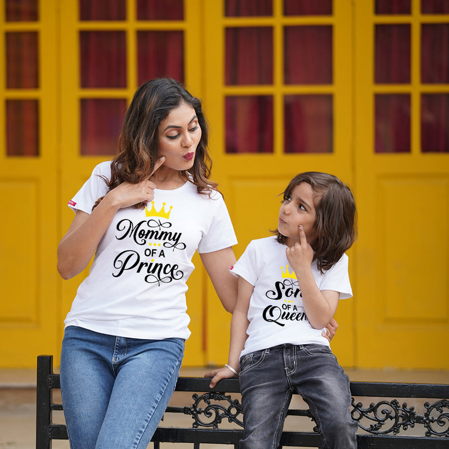 Prince and Queen Mom Son TShirts Combo
