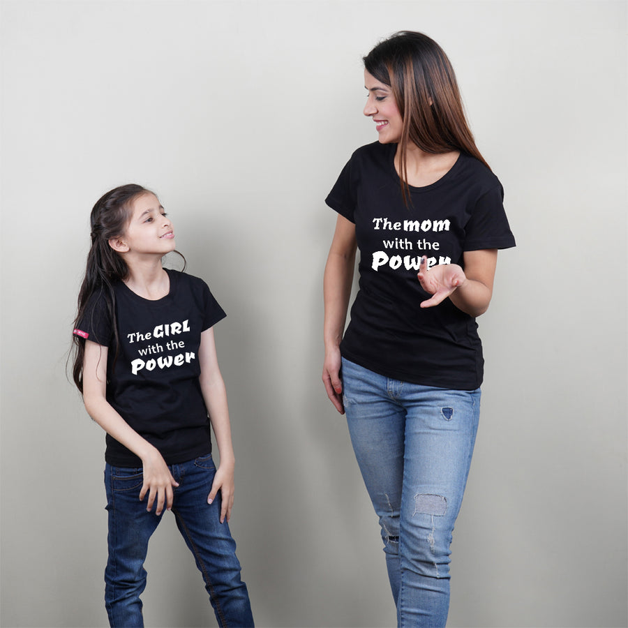 Stubborne Power Mom Daughter Matching T-Shirt