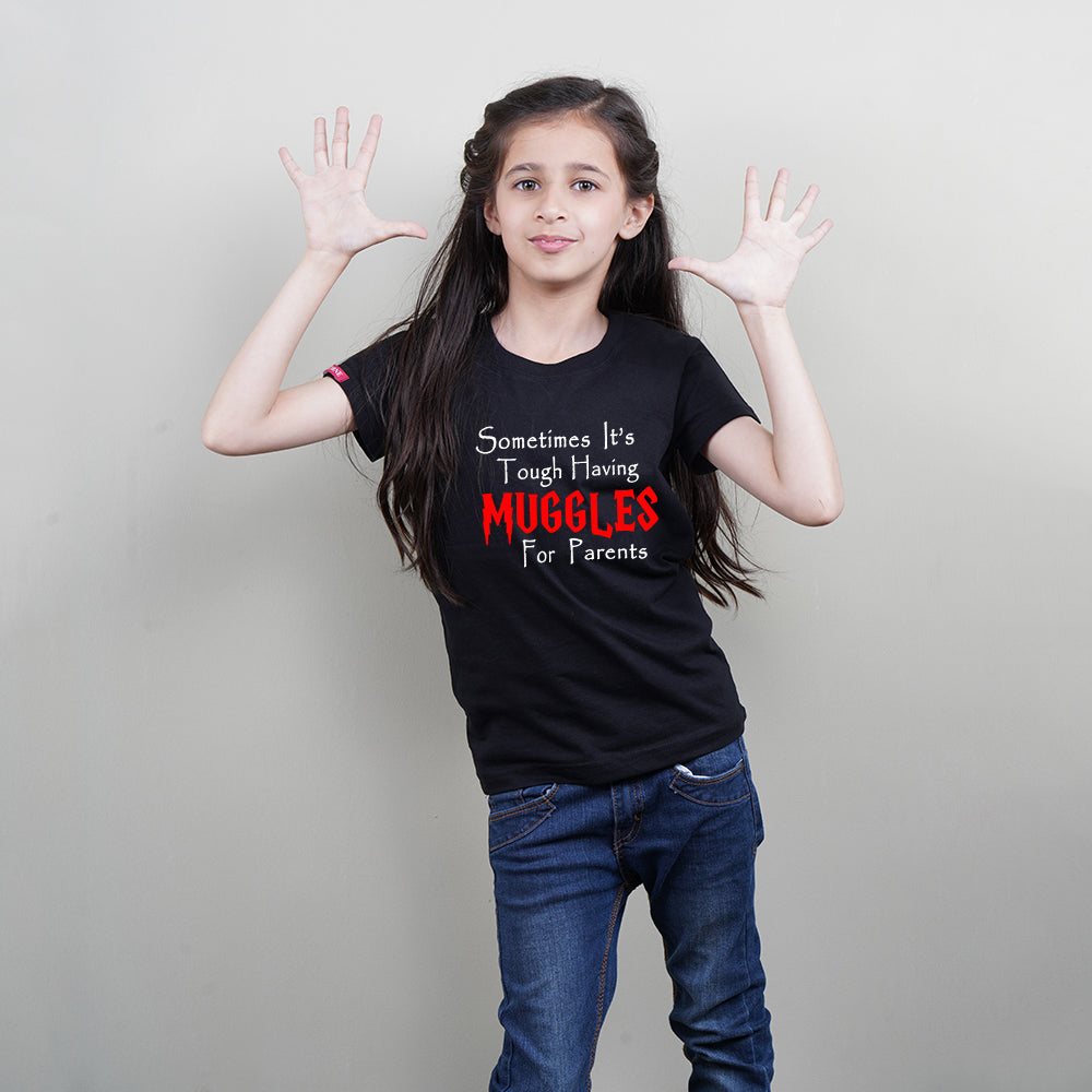 Cool Kids T-Shirt in Black Color (Muggles For Parents) Stubborne
