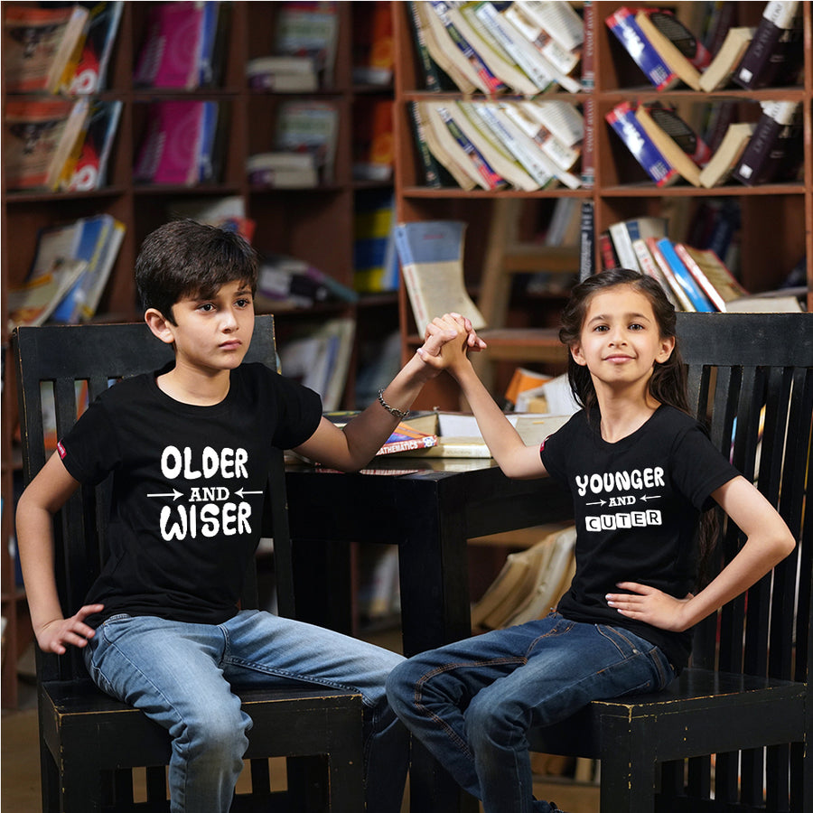Older And Younger Brother Sister Siblings T-Shirt Combo