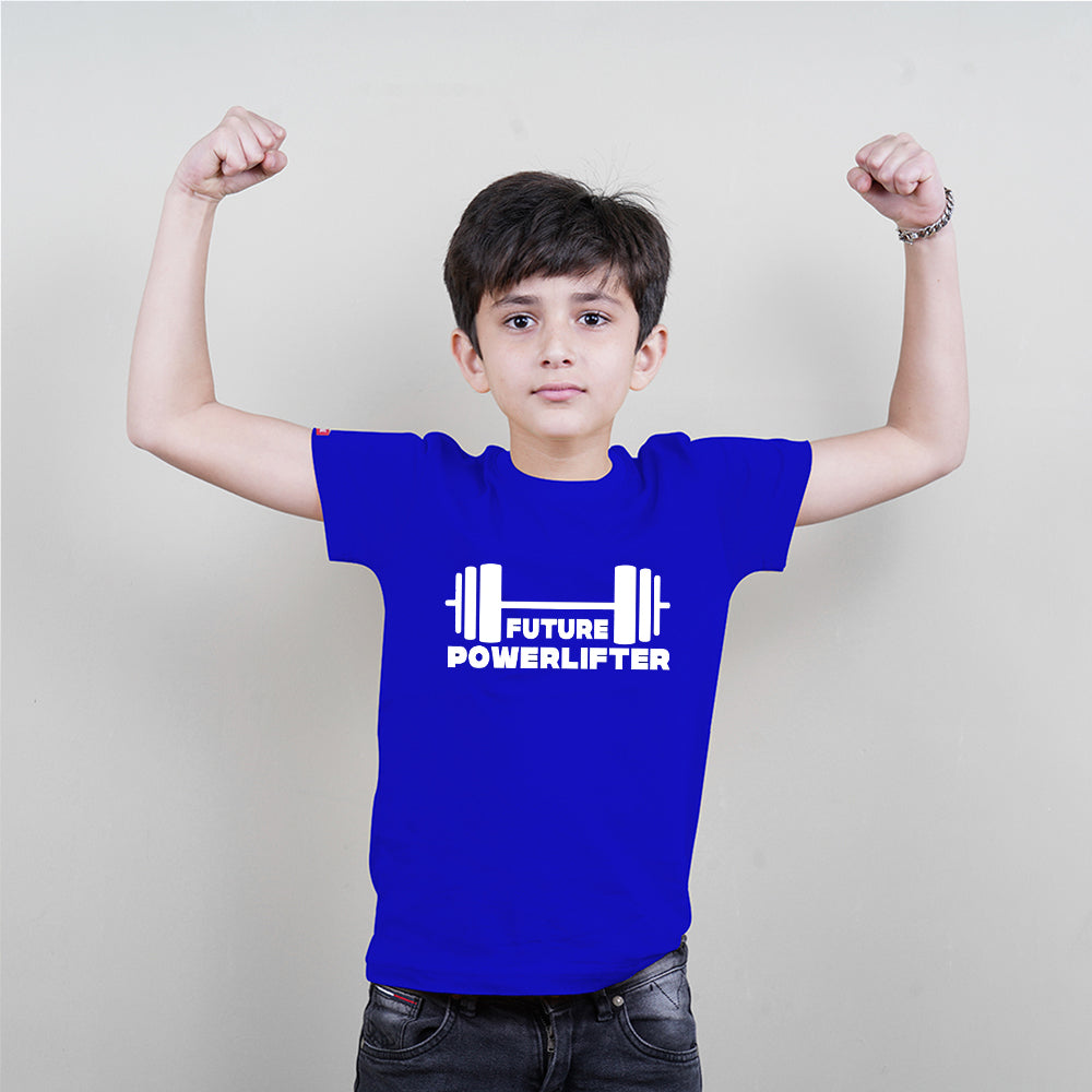 Future Power-Lifter Kids TShirt-Children'S Day TShirt