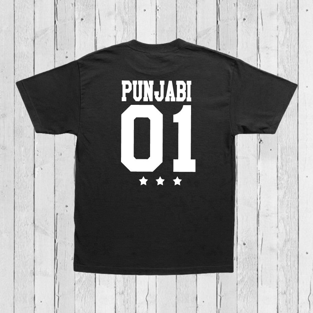Stubborne Punjabi Men's T-Shirt In Black