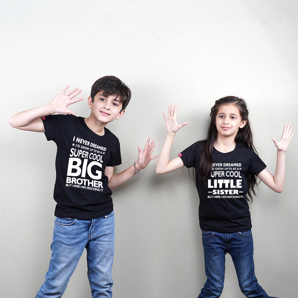 Super Cool Big Sister Little Brother TShirts Combo