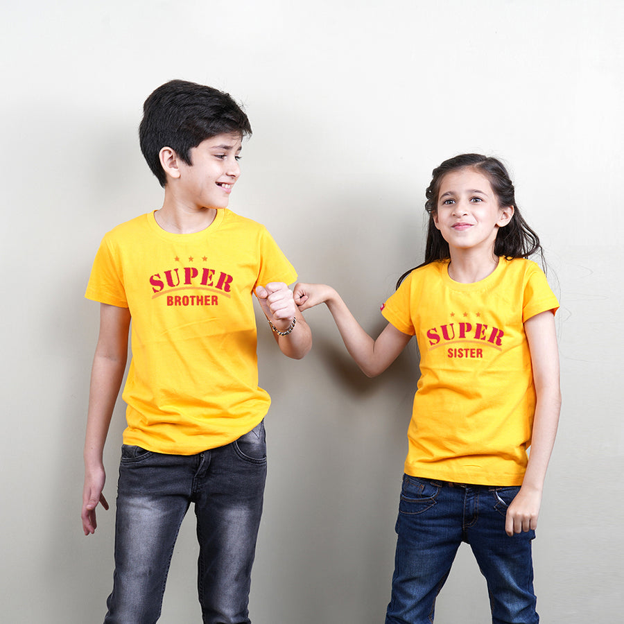 Super Brother Sister Sibling T-Shirts Combo