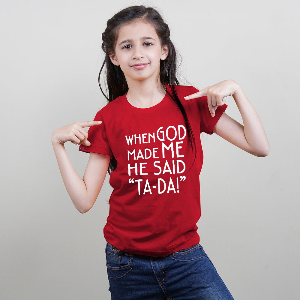 Kids Red T-Shirt (TA-DA) Stubborne