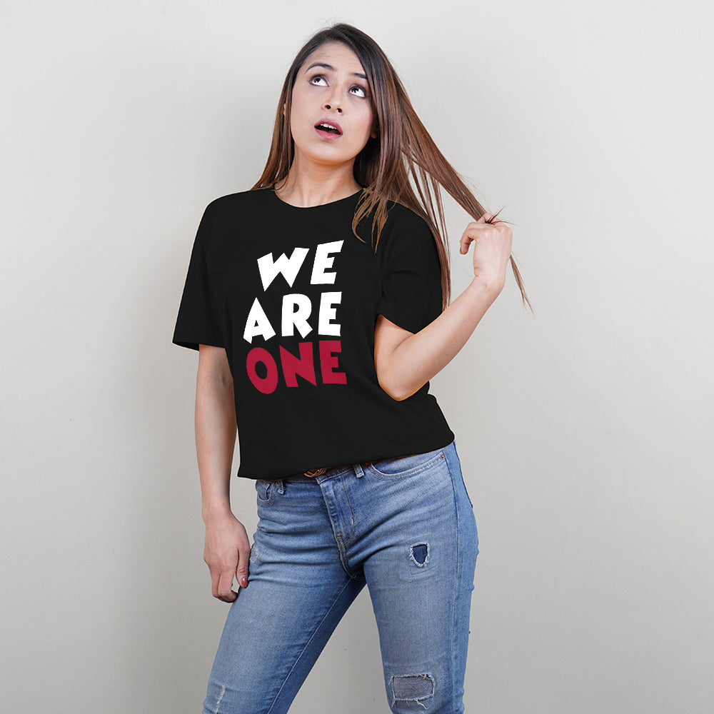 Stubborne We are One Black Family of 3 T-Shirt Combo