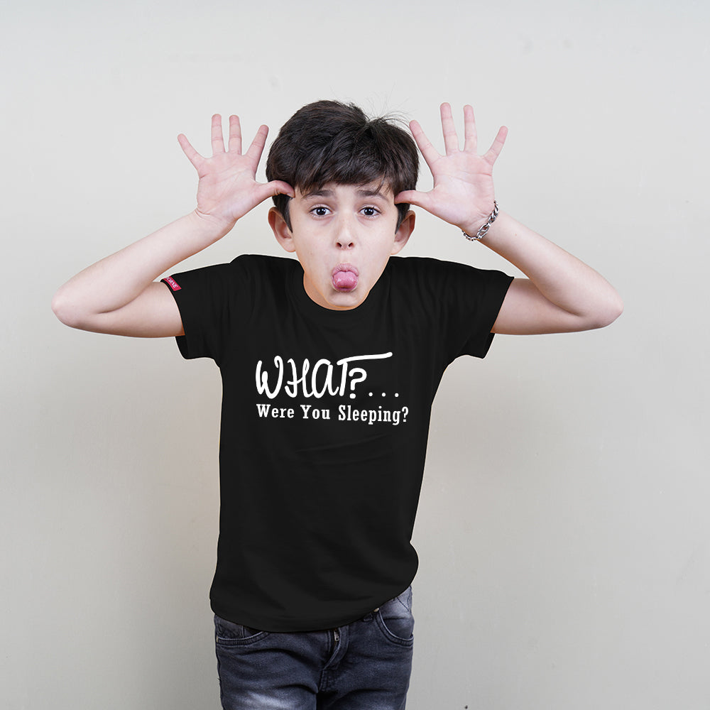 Kids Cotton T-Shirt (What Were You Sleeping) Stubborne