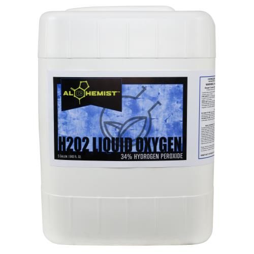 Alchemist H2O2 Liquid Oxygen 34% 5 Gallon (OR Label)
