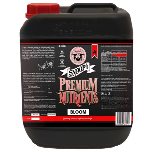 Snoop's Premium Nutrients Bloom A Non-Circulating 20 Liter (Soil and Hydro Run To Waste) (1/Cs)