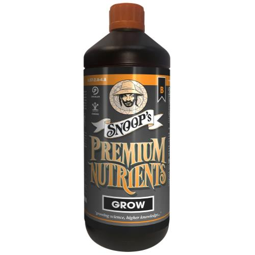 Snoop's Premium Nutrients Grow B Circulating 1 Liter (Hydro Recirculating) (12/Cs)