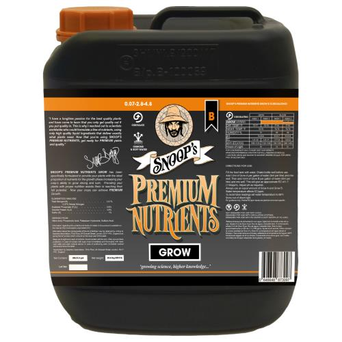Snoop's Premium Nutrients Grow B Circulating 20 Liter (Hydro Recirculating) (1/Cs)