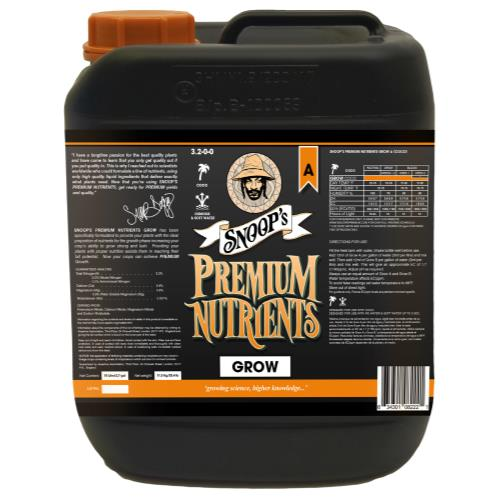 Snoop's Premium Nutrients Grow A Coco 10 Liter (2/Cs)