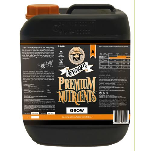 Snoop's Premium Nutrients Grow A Non-Circulating 5 Liter (Soil and Hydro Run To Waste) (4/Cs)