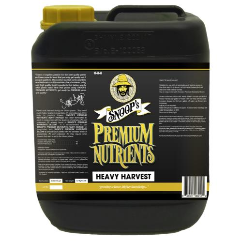 Snoop's Premium Nutrients Heavy Harvest 5 Liter (4/Cs)
