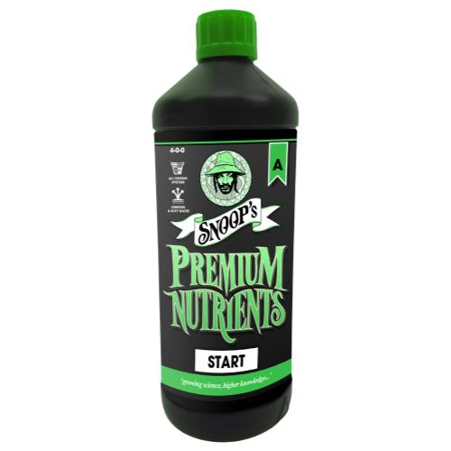 Snoop's Premium Nutrients Start A 1 Liter (Soil, Hydro Run To Waste and Hydro Recirculating) (12/Cs)