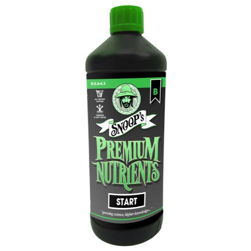 Snoop's Premium Nutrients Start B 1 Liter (Soil, Hydro Run To Waste and Hydro Recirculating) (12/Cs)
