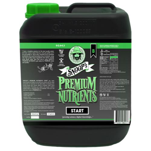 Snoop's Premium Nutrients Start B 10 Liter (Soil, Hydro Run To Waste and Hydro Recirculating) (2/Cs)