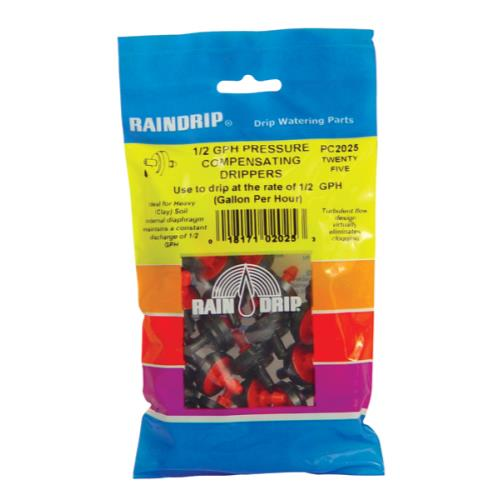 Raindrip 1/2 GPH Dripper Bag (25/bag)
