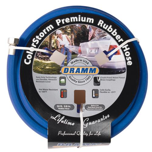 Dramm ColorStorm Premium Rubber Hose 5/8 in 50 ft Blue (6/Cs)